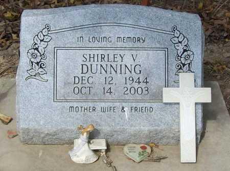 DUNNING, SHIRLEY V. - Delaware County, Oklahoma   SHIRLEY V. DUNNING - Oklahoma Gravestone Photos