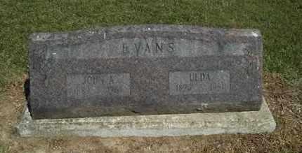 EVANS, ULDA - Delaware County, Oklahoma   ULDA EVANS - Oklahoma Gravestone Photos