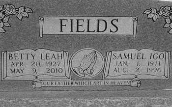 FIELDS, BETTY LEAH - Delaware County, Oklahoma   BETTY LEAH FIELDS - Oklahoma Gravestone Photos