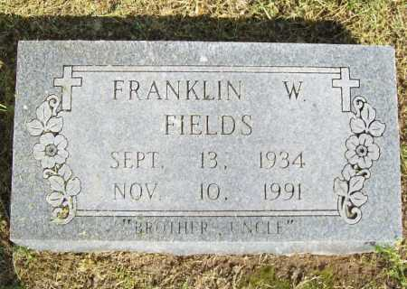 FIELDS, FRANKLIN WALKER - Delaware County, Oklahoma | FRANKLIN WALKER FIELDS - Oklahoma Gravestone Photos
