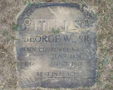 FIELDS, GEORGE WASHINGTON, SR. - Delaware County, Oklahoma | GEORGE WASHINGTON, SR. FIELDS - Oklahoma Gravestone Photos