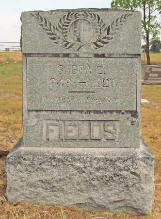FIELDS, SABRA E - Delaware County, Oklahoma   SABRA E FIELDS - Oklahoma Gravestone Photos