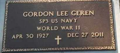 GEREN (VETEREN WW II), GORDON LEE - Delaware County, Oklahoma | GORDON LEE GEREN (VETEREN WW II) - Oklahoma Gravestone Photos