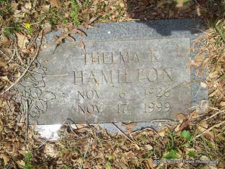 HAMILTON, THELMA K. - Delaware County, Oklahoma | THELMA K. HAMILTON - Oklahoma Gravestone Photos