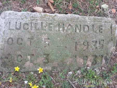 HANDLE, LUCILLE - Delaware County, Oklahoma | LUCILLE HANDLE - Oklahoma Gravestone Photos