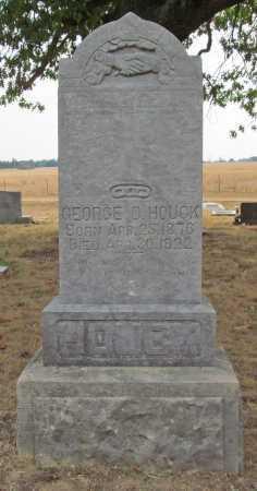 HOUCK, GEORGE D - Delaware County, Oklahoma | GEORGE D HOUCK - Oklahoma Gravestone Photos