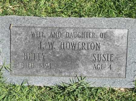 HOWERTON, SUSIE - Delaware County, Oklahoma | SUSIE HOWERTON - Oklahoma Gravestone Photos