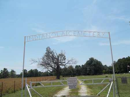 *INDIANOLA CEMETERY SIGN, ' - Delaware County, Oklahoma | ' *INDIANOLA CEMETERY SIGN - Oklahoma Gravestone Photos