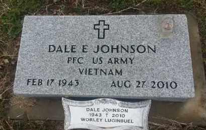 JOHNSON, DALE E - Delaware County, Oklahoma   DALE E JOHNSON - Oklahoma Gravestone Photos
