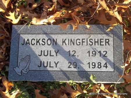 KINGFISHER, JACKSON - Delaware County, Oklahoma | JACKSON KINGFISHER - Oklahoma Gravestone Photos