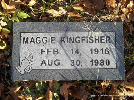 KINGFISHER, MAGGIE - Delaware County, Oklahoma   MAGGIE KINGFISHER - Oklahoma Gravestone Photos