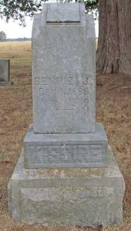 KISSIRE, BENNIE J - Delaware County, Oklahoma | BENNIE J KISSIRE - Oklahoma Gravestone Photos