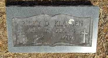KLASSEN, RICKY D - Delaware County, Oklahoma   RICKY D KLASSEN - Oklahoma Gravestone Photos