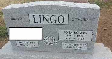 LINGO, JOHN ROGERS - Delaware County, Oklahoma | JOHN ROGERS LINGO - Oklahoma Gravestone Photos