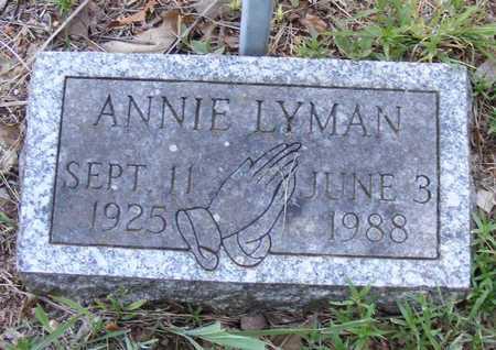 LYMAN, ANNIE - Delaware County, Oklahoma | ANNIE LYMAN - Oklahoma Gravestone Photos