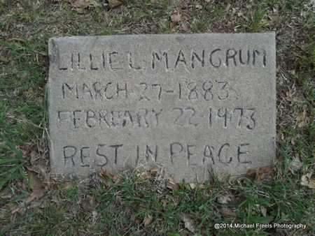 MANGRUM, LILLIE L. - Delaware County, Oklahoma | LILLIE L. MANGRUM - Oklahoma Gravestone Photos
