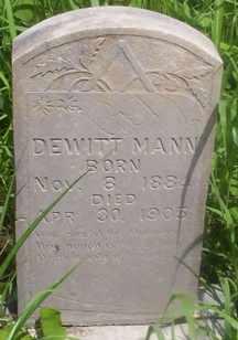 MANN, DEWITT - Delaware County, Oklahoma | DEWITT MANN - Oklahoma Gravestone Photos
