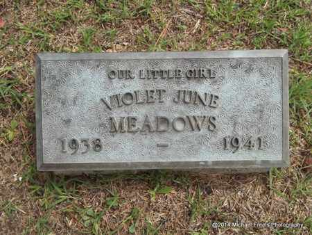 MEADOWS, VIOLET JUNE - Delaware County, Oklahoma | VIOLET JUNE MEADOWS - Oklahoma Gravestone Photos