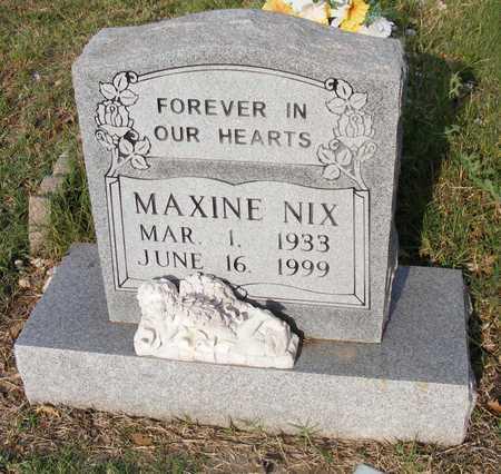 NIX, MAXINE - Delaware County, Oklahoma | MAXINE NIX - Oklahoma Gravestone Photos