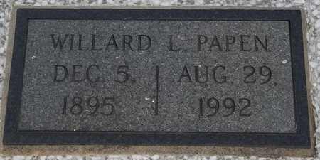 PAPEN, WILLARD L - Delaware County, Oklahoma | WILLARD L PAPEN - Oklahoma Gravestone Photos