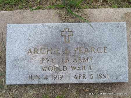 PEARCE (VETERAN WWII), ARCHIE L. - Delaware County, Oklahoma | ARCHIE L. PEARCE (VETERAN WWII) - Oklahoma Gravestone Photos