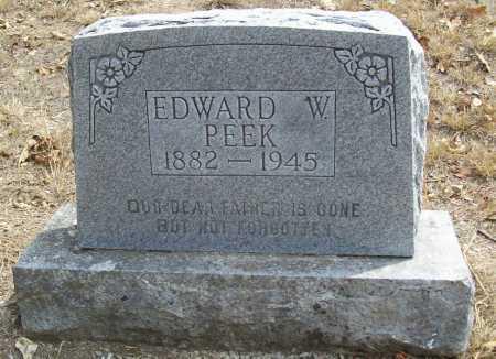 PEEK, EDWARD W. - Delaware County, Oklahoma | EDWARD W. PEEK - Oklahoma Gravestone Photos