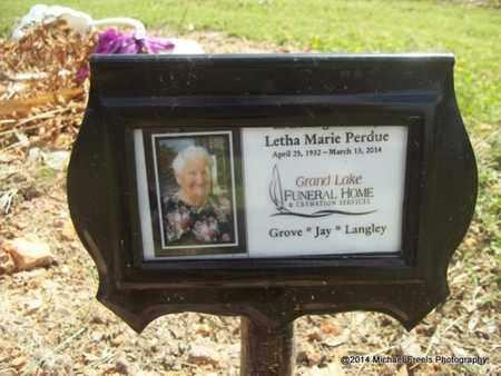PERDUE, LETHA MARIE - Delaware County, Oklahoma   LETHA MARIE PERDUE - Oklahoma Gravestone Photos