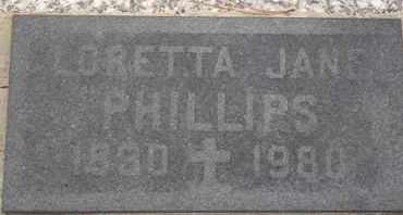 PHILLIPS, LORETTA JANE - Delaware County, Oklahoma | LORETTA JANE PHILLIPS - Oklahoma Gravestone Photos