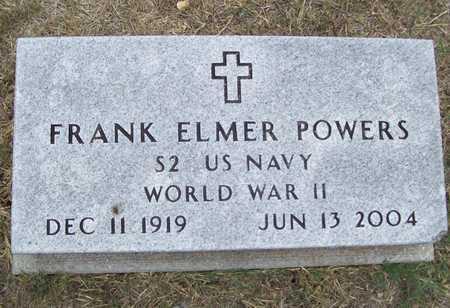 POWERS (VETERAN WWII), FRANK ELMER - Delaware County, Oklahoma   FRANK ELMER POWERS (VETERAN WWII) - Oklahoma Gravestone Photos