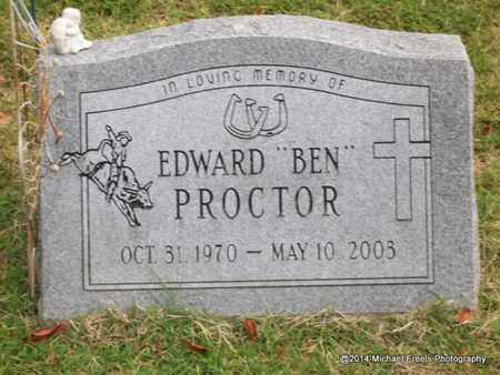 "PROCTOR, EDWARD ""BEN"" - Delaware County, Oklahoma   EDWARD ""BEN"" PROCTOR - Oklahoma Gravestone Photos"