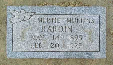 RARDIN, MERTIE - Delaware County, Oklahoma | MERTIE RARDIN - Oklahoma Gravestone Photos