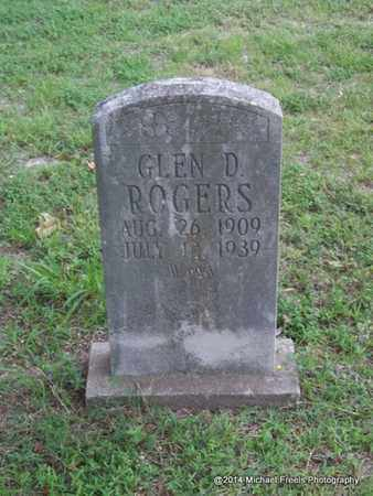 ROGERS, GLEN D. - Delaware County, Oklahoma | GLEN D. ROGERS - Oklahoma Gravestone Photos