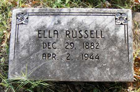 RUSSELL, ELLA - Delaware County, Oklahoma | ELLA RUSSELL - Oklahoma Gravestone Photos