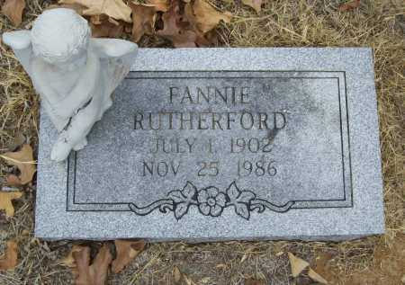 RUTHERFORD, FANNIE - Delaware County, Oklahoma | FANNIE RUTHERFORD - Oklahoma Gravestone Photos