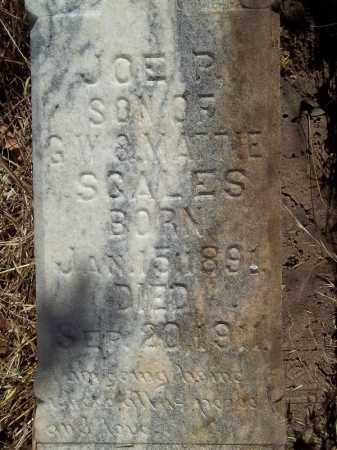 SCALES (CLOSEUP), JOE P - Delaware County, Oklahoma | JOE P SCALES (CLOSEUP) - Oklahoma Gravestone Photos