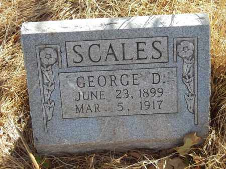 SCALES, GEORGE D - Delaware County, Oklahoma   GEORGE D SCALES - Oklahoma Gravestone Photos