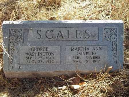 SCALES, GEORGE WASHINGTON - Delaware County, Oklahoma | GEORGE WASHINGTON SCALES - Oklahoma Gravestone Photos
