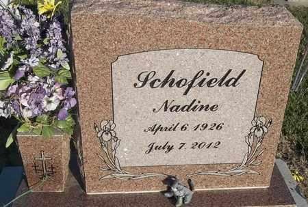 SCHOFIELD, NADINE - Delaware County, Oklahoma   NADINE SCHOFIELD - Oklahoma Gravestone Photos