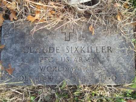 SIXKILLER (VETERAN WWII), CLAUDE - Delaware County, Oklahoma | CLAUDE SIXKILLER (VETERAN WWII) - Oklahoma Gravestone Photos