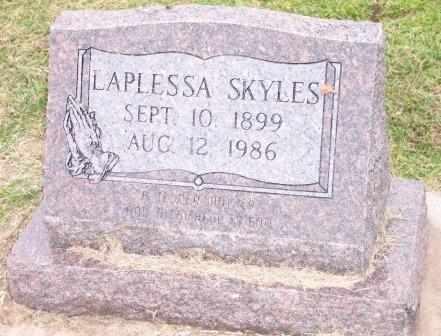 SKYLES, LAPLESSA - Delaware County, Oklahoma | LAPLESSA SKYLES - Oklahoma Gravestone Photos