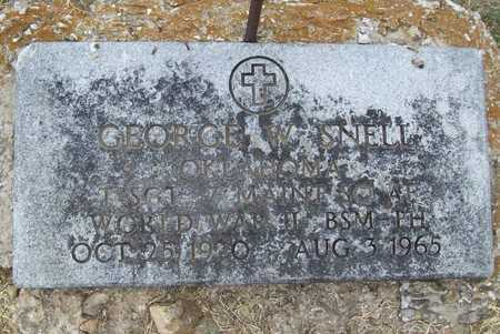 SNELL (VETERAN WWII), GEORGE W - Delaware County, Oklahoma | GEORGE W SNELL (VETERAN WWII) - Oklahoma Gravestone Photos