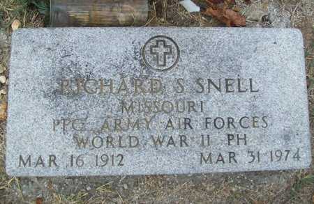 SNELL (VETERAN WWII), RICHARD S - Delaware County, Oklahoma | RICHARD S SNELL (VETERAN WWII) - Oklahoma Gravestone Photos