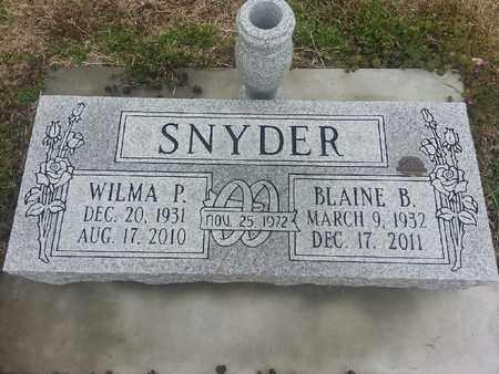 SNYDER, WILMA P - Delaware County, Oklahoma | WILMA P SNYDER - Oklahoma Gravestone Photos