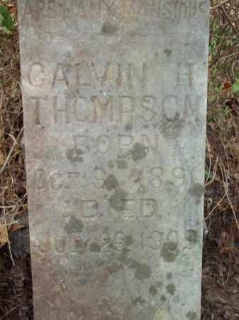 THOMPSON (CLOSEUP), CALVIN H - Delaware County, Oklahoma | CALVIN H THOMPSON (CLOSEUP) - Oklahoma Gravestone Photos