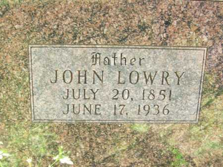 WARD (CLOSEUP), JOHN LOWRY - Delaware County, Oklahoma | JOHN LOWRY WARD (CLOSEUP) - Oklahoma Gravestone Photos