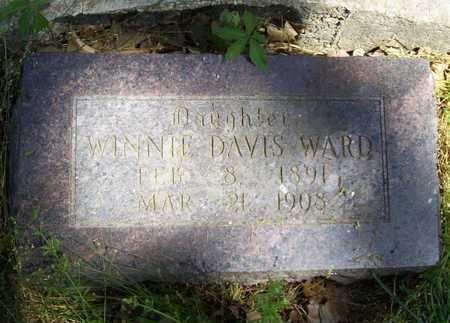 DAVIS WARD, WINNIE - Delaware County, Oklahoma   WINNIE DAVIS WARD - Oklahoma Gravestone Photos
