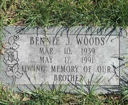 WOODS, BENNIE J - Delaware County, Oklahoma | BENNIE J WOODS - Oklahoma Gravestone Photos
