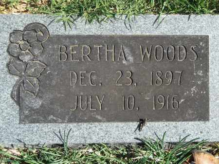 WOODS, BERTHA - Delaware County, Oklahoma | BERTHA WOODS - Oklahoma Gravestone Photos