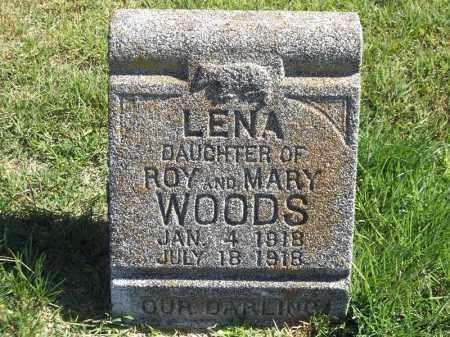 WOODS, LENA - Delaware County, Oklahoma | LENA WOODS - Oklahoma Gravestone Photos