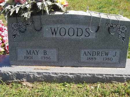 WOODS, ANDREW J - Delaware County, Oklahoma | ANDREW J WOODS - Oklahoma Gravestone Photos
